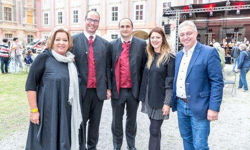 Mag. Karin Renner (3. Landtagspräsidentin), BGM Martin Almstädter, Katharina Kucharowitz und Werner Herbert (Abgeordnete zum Nationalrat)