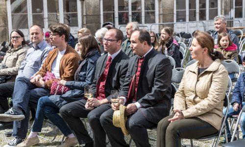 Bgm Karel Lentsch, Bgm. Martin Almstädter, GGR Oliver Küffe, DI Edith Klauser (GF Nationalpark Donauauen)